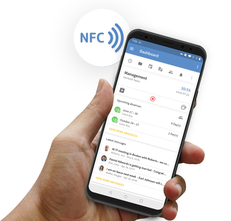 TimeTac NFC Time Tracking