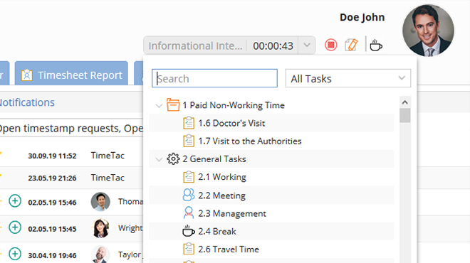 TimeTac Project Time Tracking live