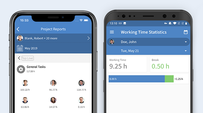TimeTac Time Tracking App reports