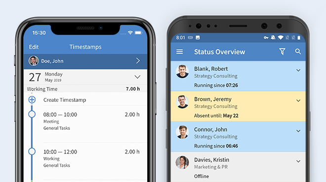 TimeTac Time Tracking App: check employee timestamps